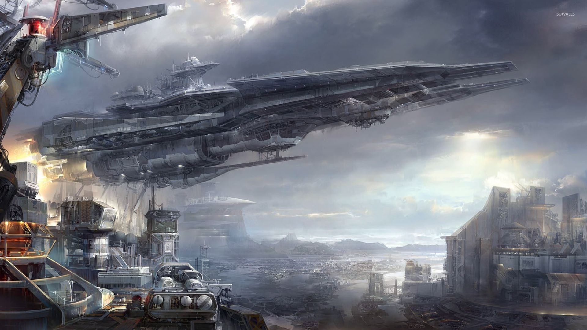 Space Station Wallpaper Fantasy Wallpapers 29437