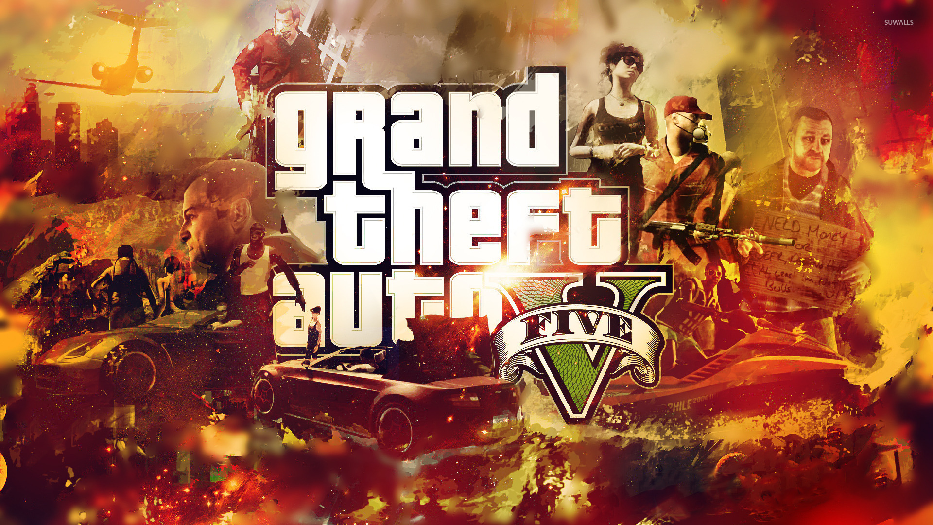 grand theft auto v wallpaper - game wallpapers - #15691