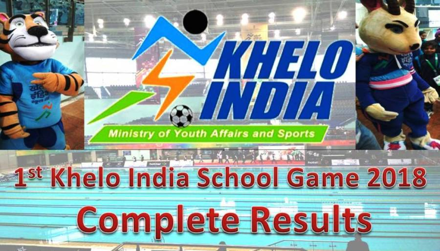 1st Khelo India School Games 2018  Complete Results  Hindi