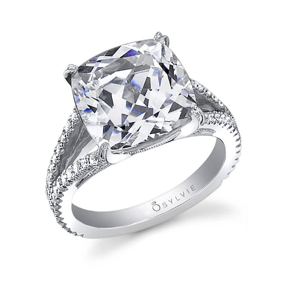 Nina Cushion Cut Split Shank Engagement Ring Sy337 Sylvie
