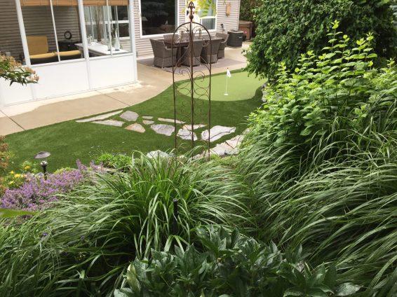 Small Putting Green in Backyard