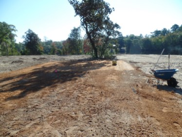 Site prepped for putting green