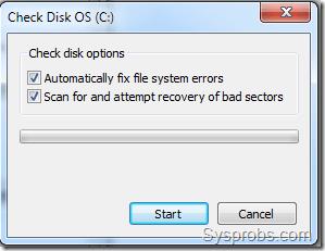 Windows 7 check disk