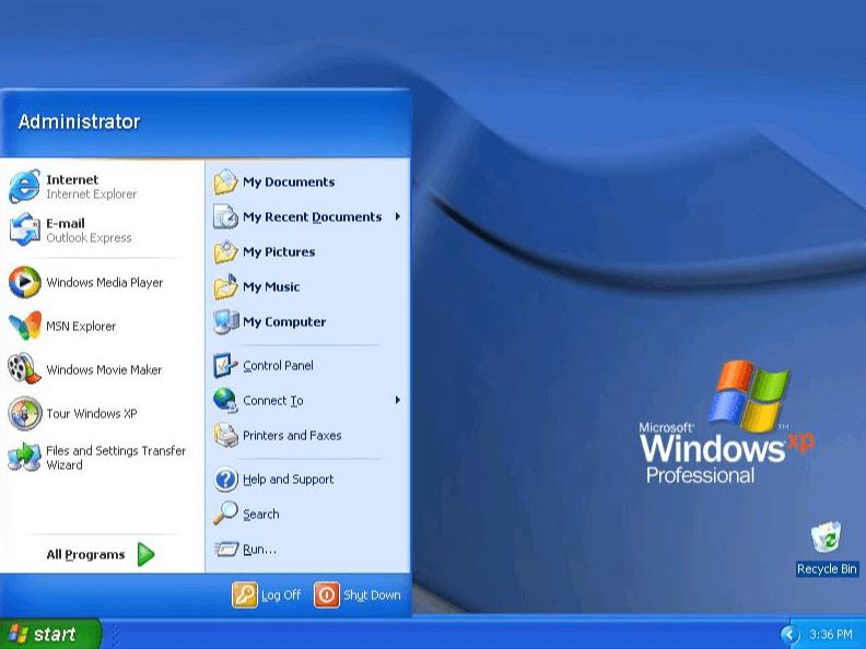 Thèmes Windows XP classiques