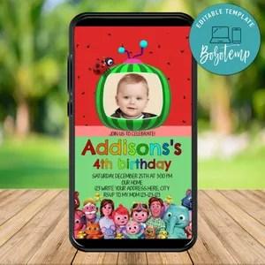 editable 1st birthday invitation