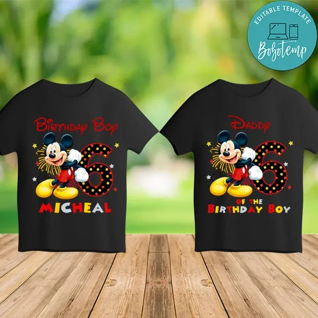 Printable Mickey Mouse Family Shirts Template Instant Download Bobotemp