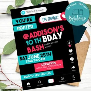 birthday invite template