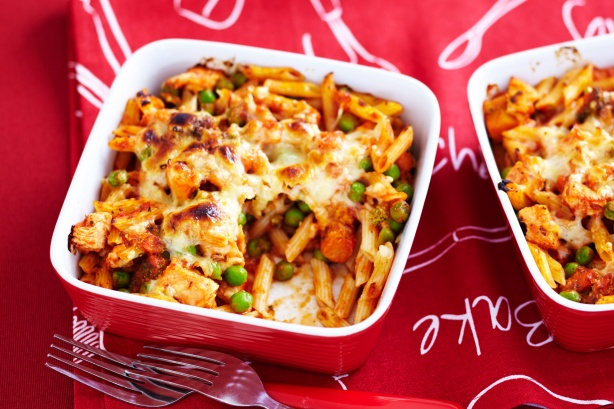 Chicken pasta bakes