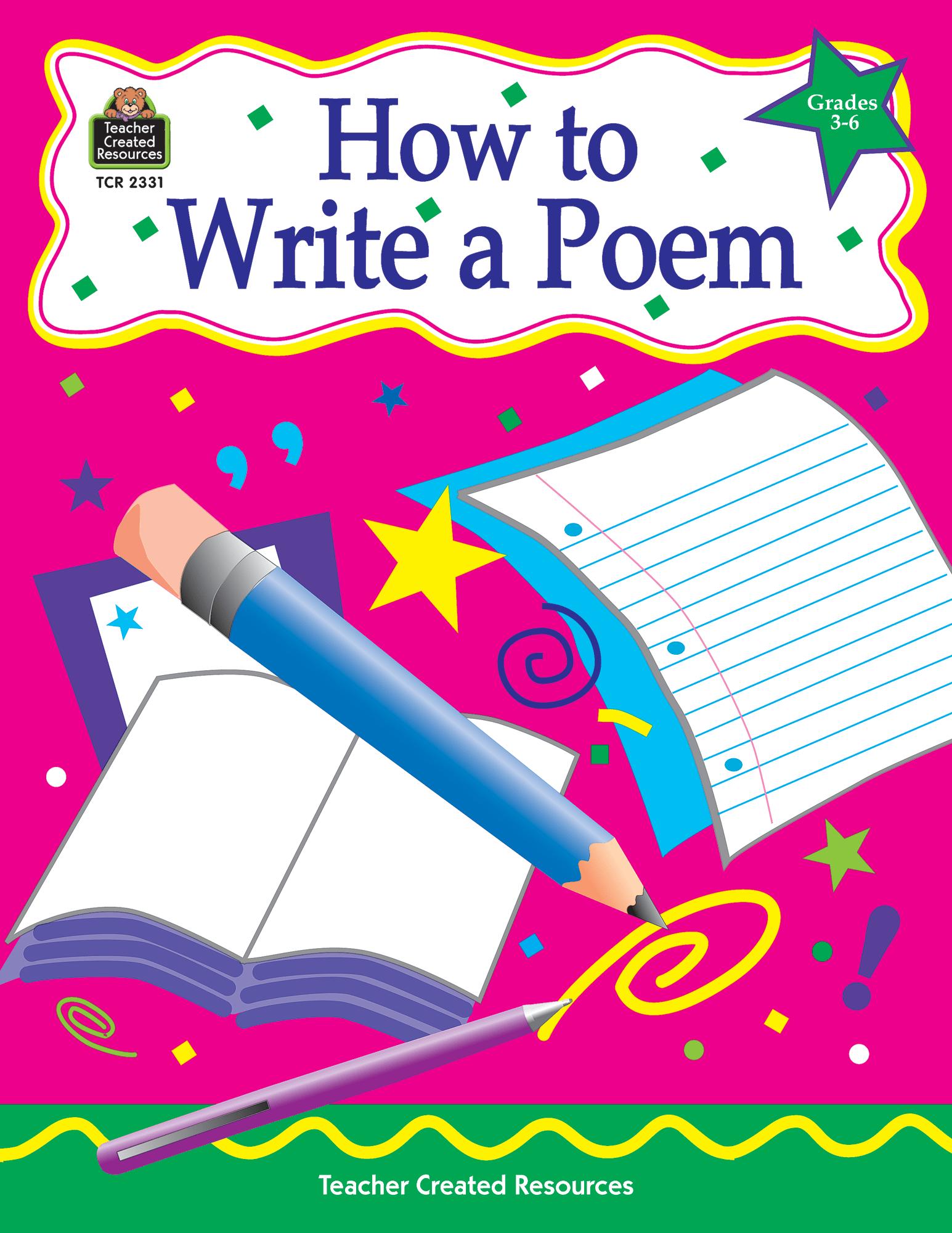 How To Write A Poem Grades 3 6
