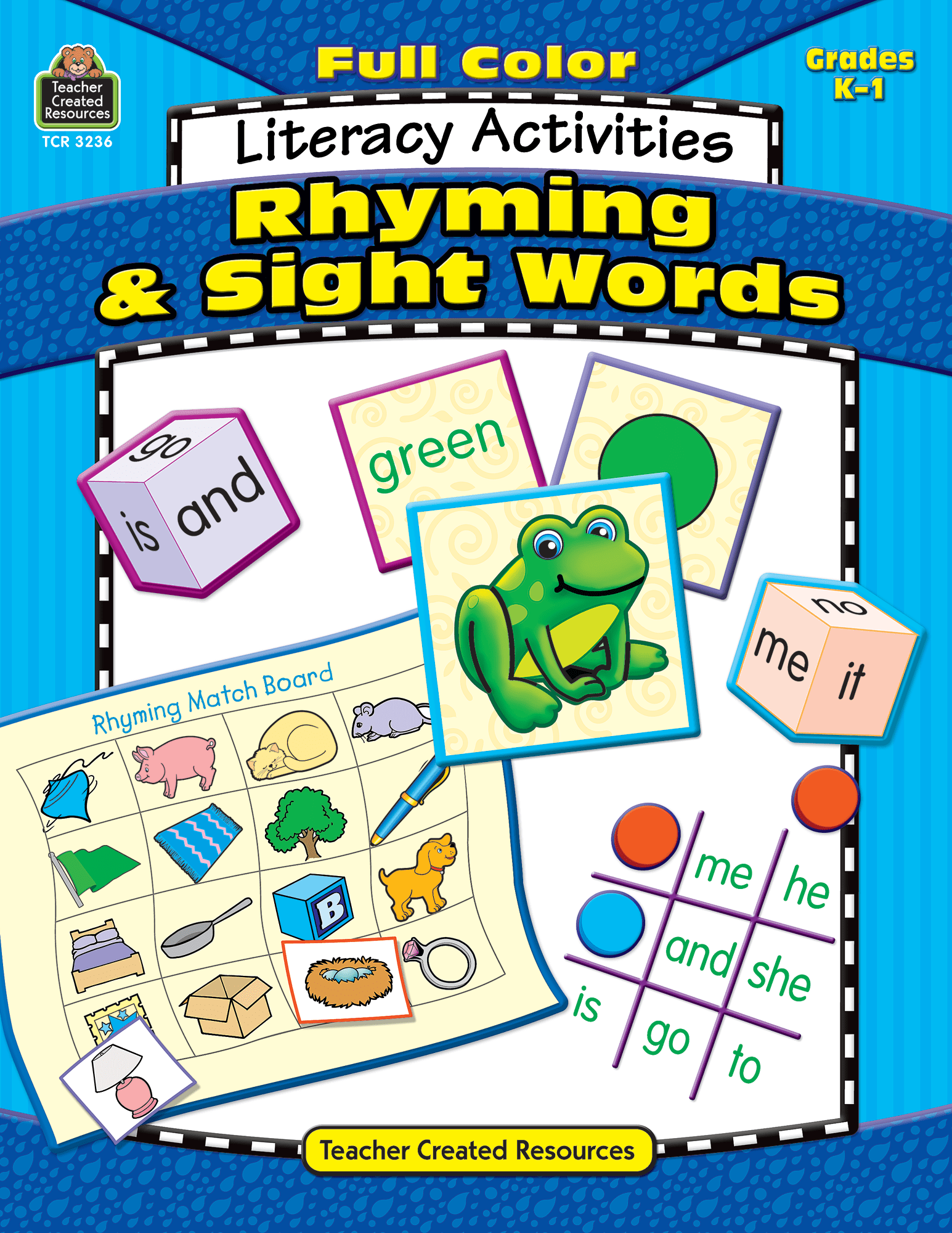 Full Color Literacy Activities Rhyming Amp Sight Words