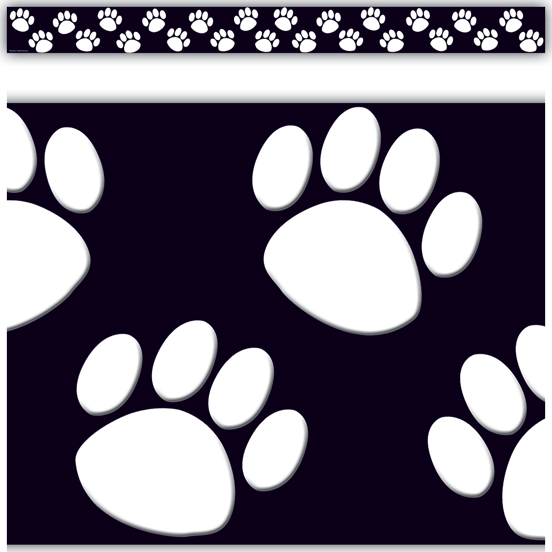Border Wall Black And Polka Dot White
