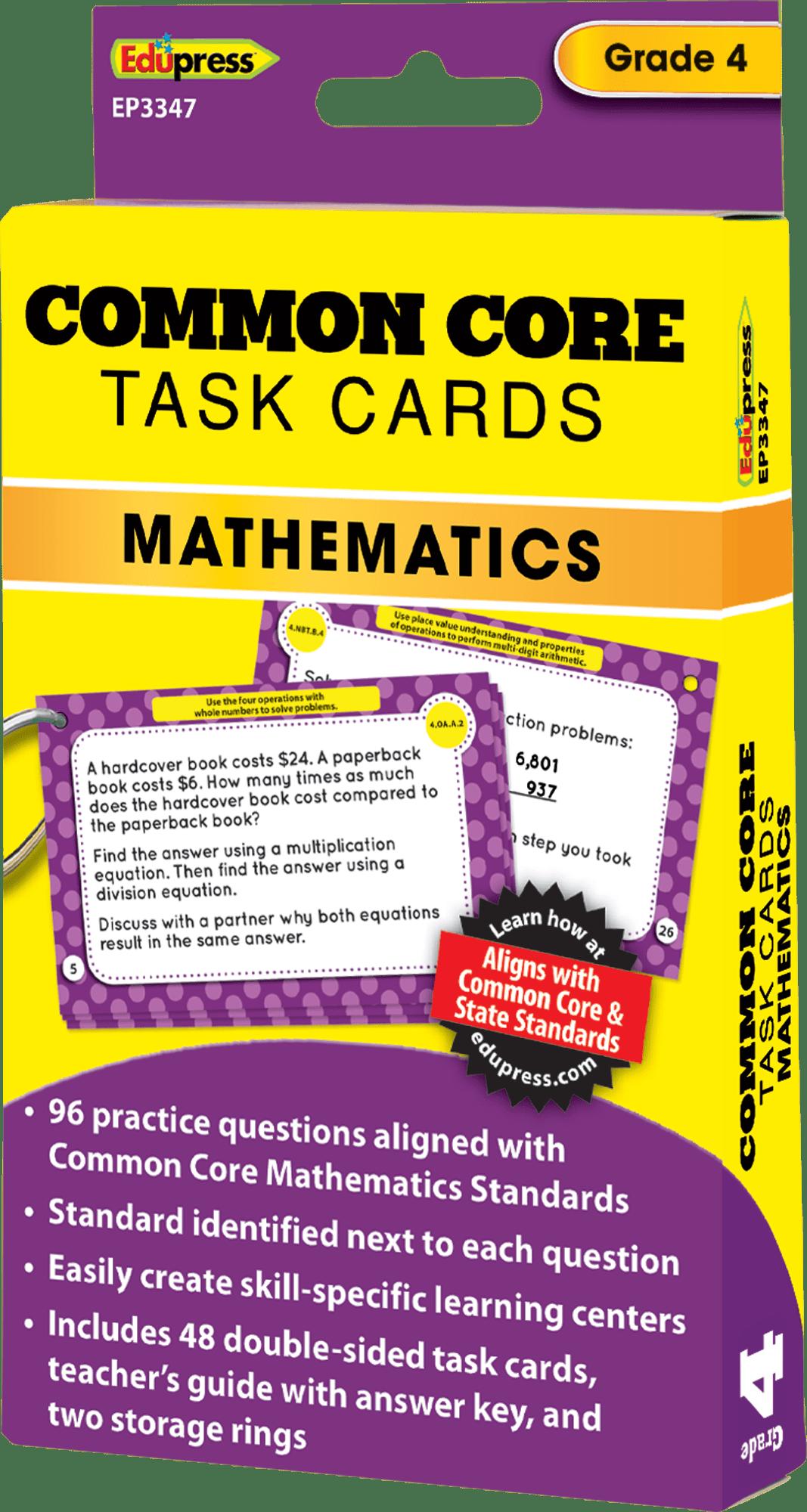 Common Core Math Task Cards Grade 4