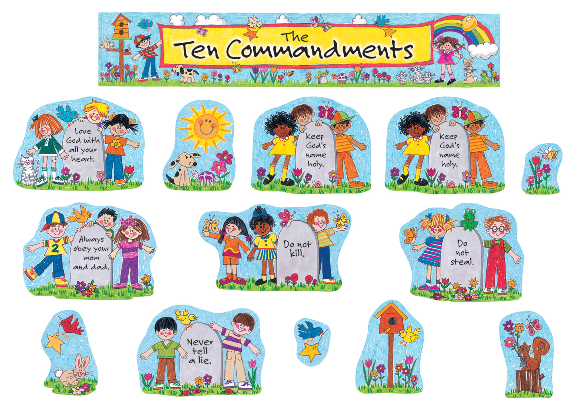 Children S Ten Commandments Bulletin Board Display Set