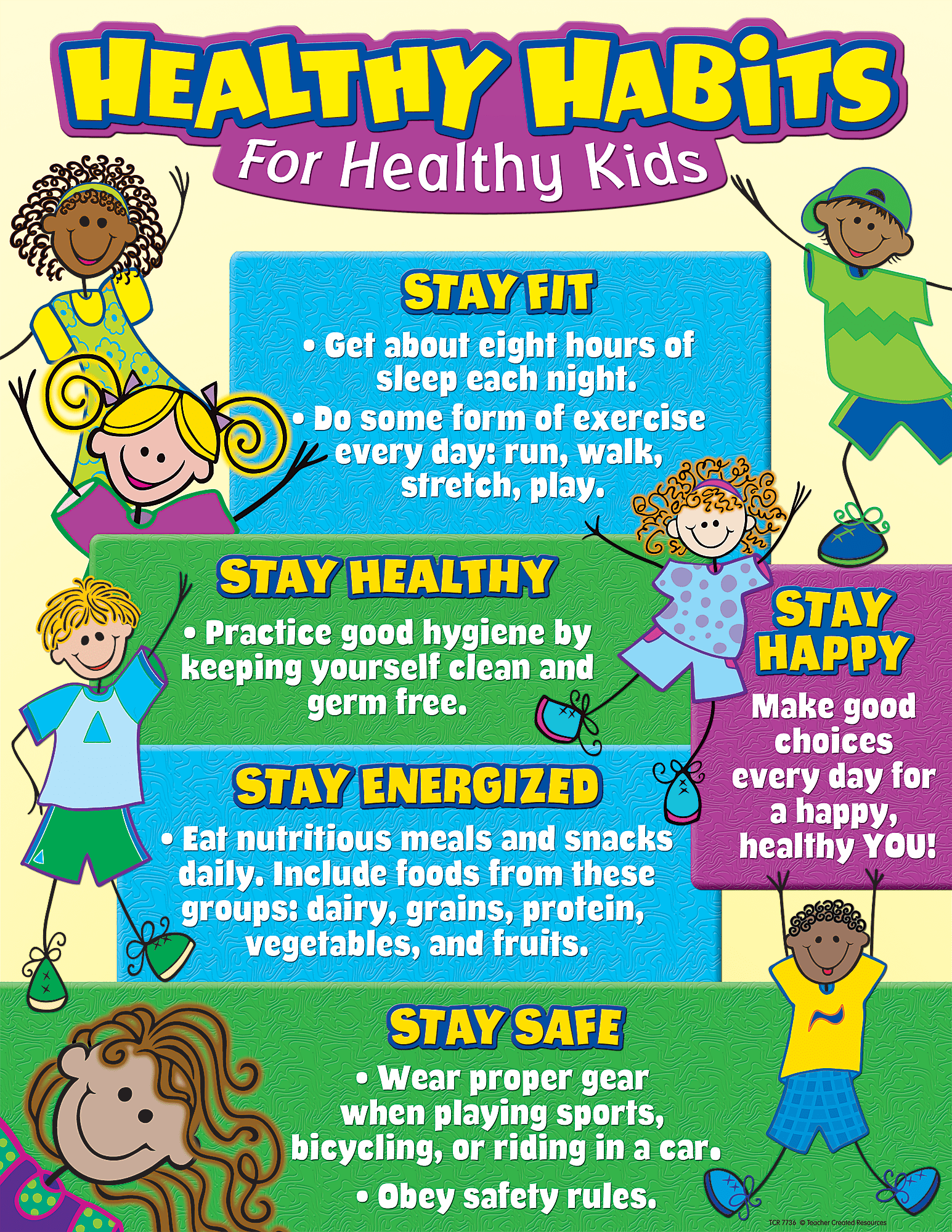 Healthy Habits For Healthy Kids Chart