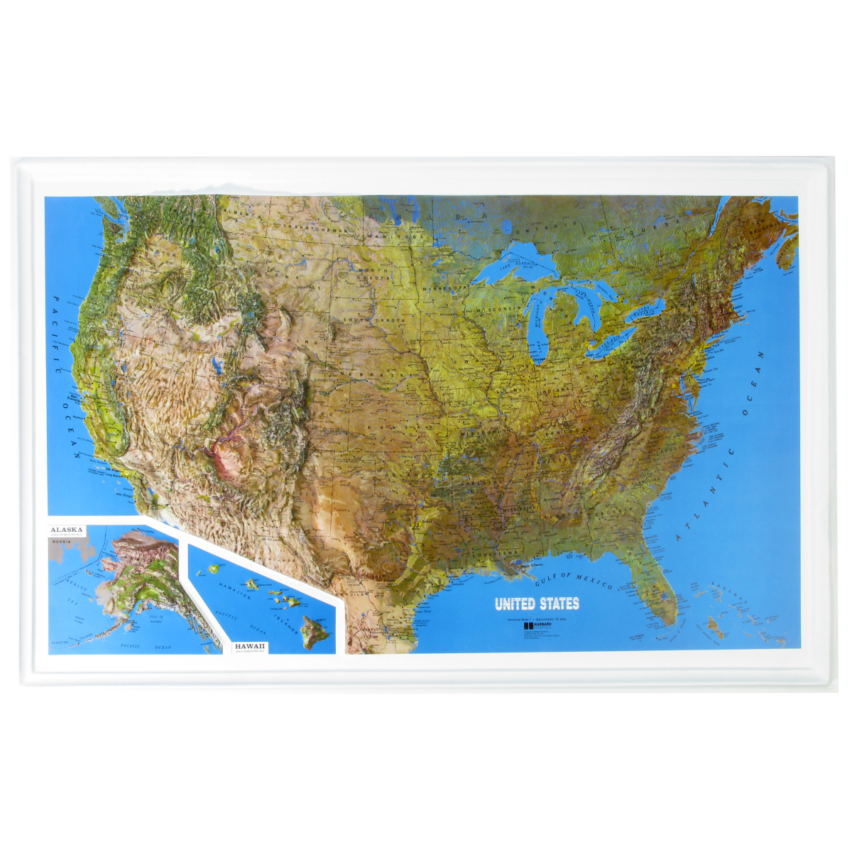 Hubbard Scientific Raised Relief Map U S Ncr Series 34