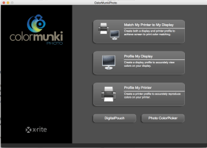 Application to calibrate ColorMunki Photo