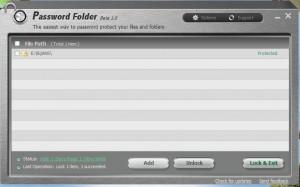 Password folder's window