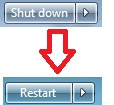 How to Change Default Power Button at Start Menu on Windows 7