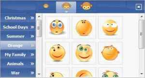 facebook chat smiley list