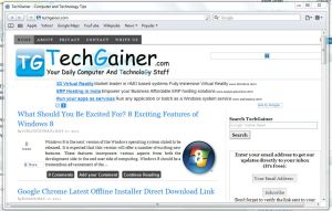 TechGainer from Safari on PC