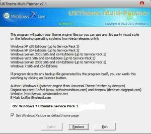 UXTheme Multi Patcher for windows 7