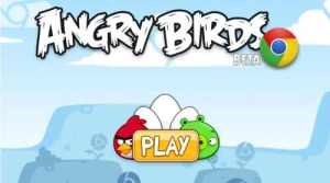 Play angry birds with google chrome online
