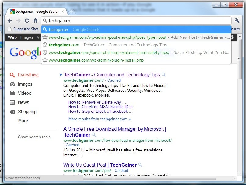how to clear search results on chrome