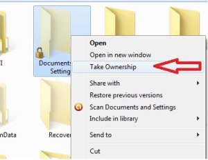 "Add ""Take Ownership"" in Context Menu in Windows 7, Vista or XP"