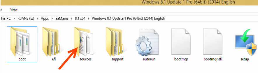Locate the Folder'sources'