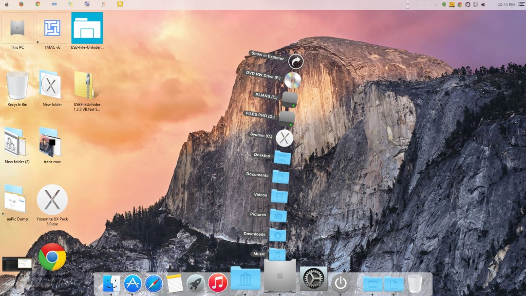 Mac style Dock in action