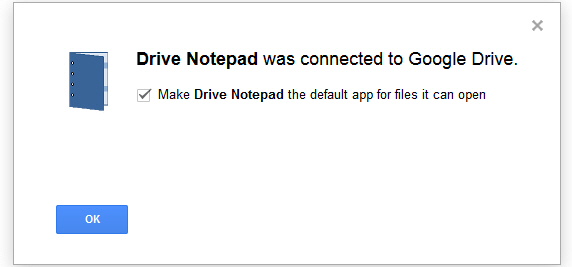 Drive Notepad connected message