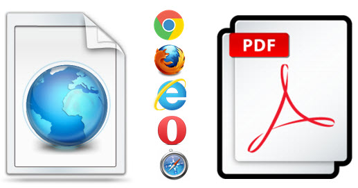 Save webpages as PDF on Browser