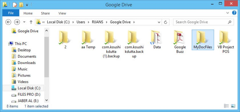 Create a folder in Google Drive