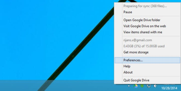 Access Drive Preference