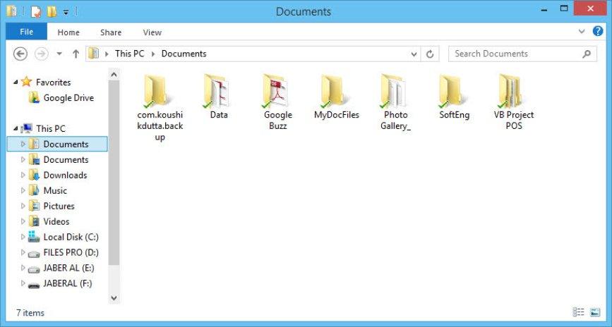 Make Google Drive default Documents  location to Google Drive