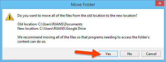 Copy documents to Google Drive