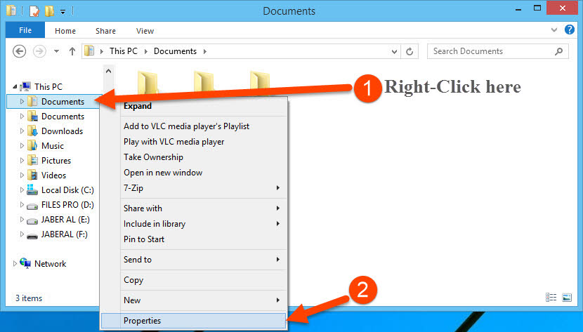Access Documents properties