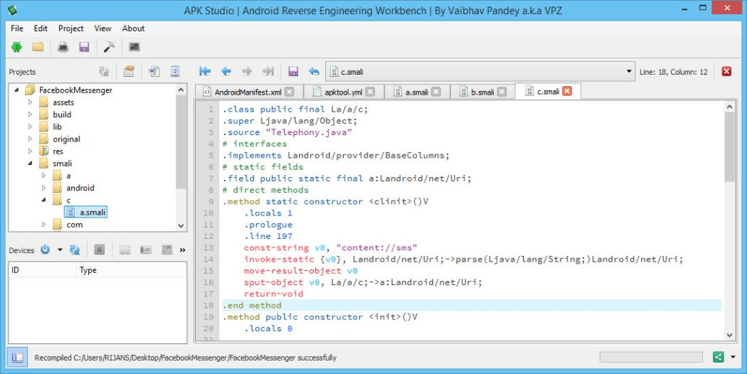 Decompile, Edit and Recompile APK files with APK Studio on