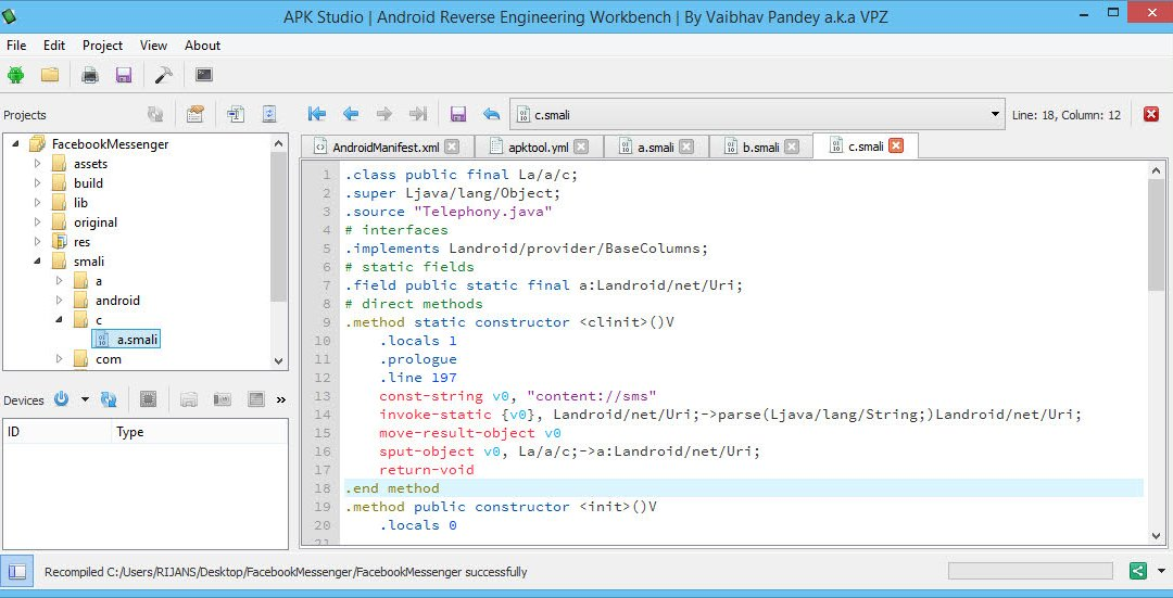 Decompile, Edit and Recompile APK files with APK Studio on Windows or Linux