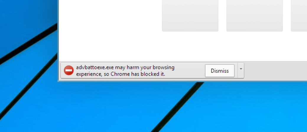 Chrome virus warning while downloading file