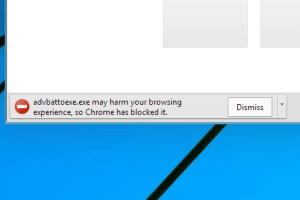 Chrome virus warning while downloading file