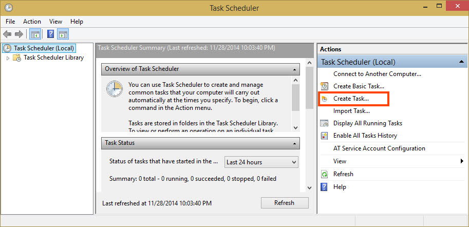 Click Create Task