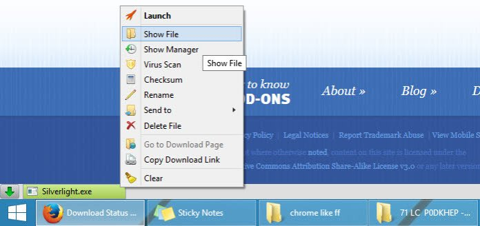 Download Statusbar options