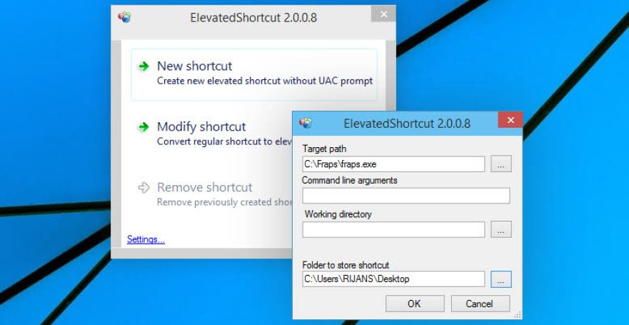 Elevated shortcut tool