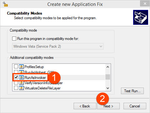 how to dissable application compatibility