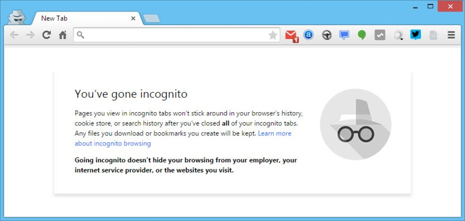 Allow Chrome extensions in incognito mode