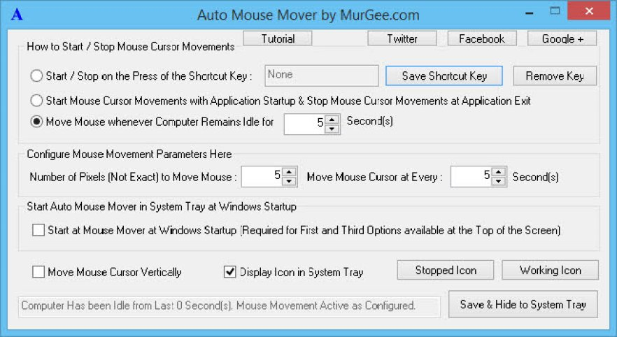 Auto Mouse Mover for Windows