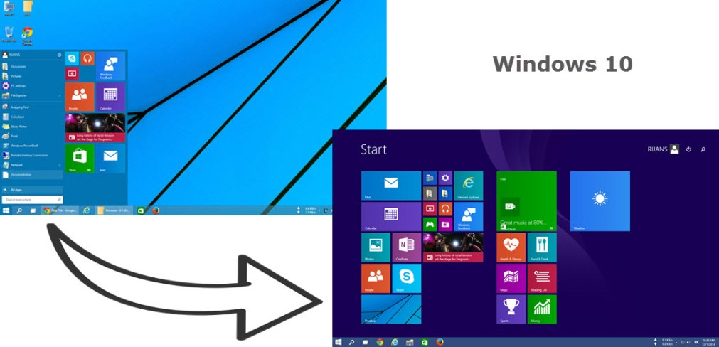 Switch back to full screen start menu on Windows 10