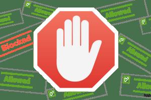 Block ads on Particular Websites