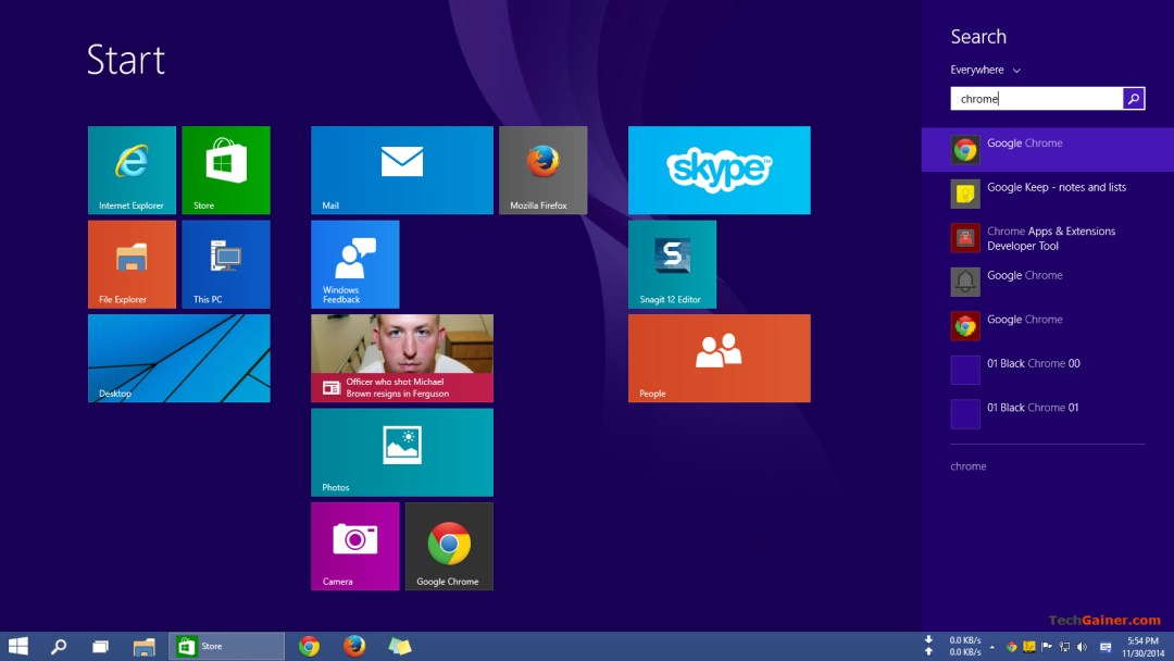 Search in Windows 10 Start Screen